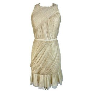 Jill Stuart Gold Cocktail Dress Tulle Elegant NWT